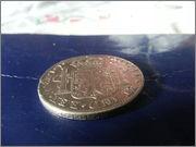 Moneda de plata de España, reinado de Fernando VII, valor facial 8 reales (26,83gr), emisión 1821, ceca MEJICO, ensayadores JJ. 20140122_134229