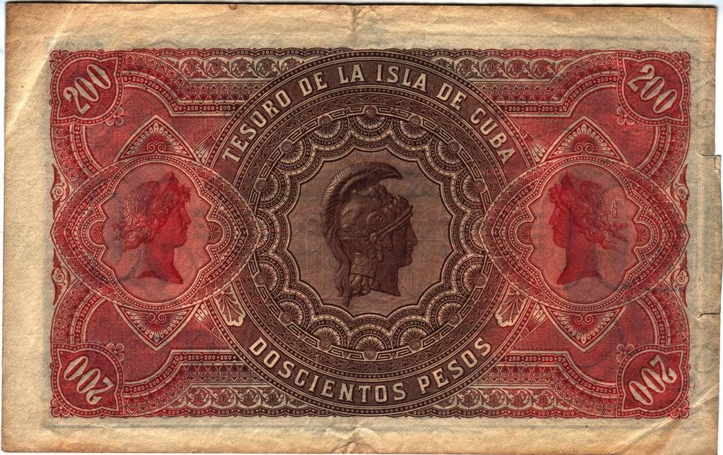 Cuba 200 pesos 1891 Cuba_P44bb