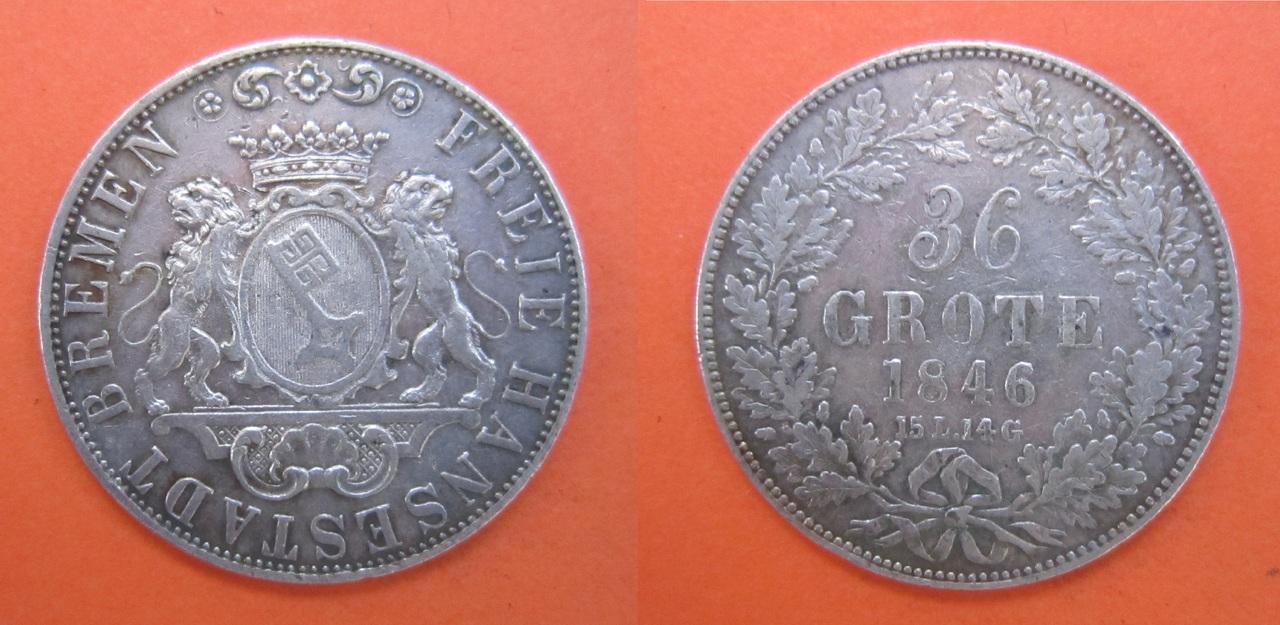 36 Grote. Bremen (estados alemanes). 1846 36_grote_1846_Bremen