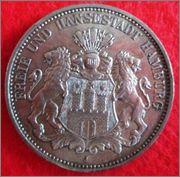 3 Mark. Alemania, Estado Hamburgo. 1912. Hamburgo 3_Mark_Hamburg_Anv