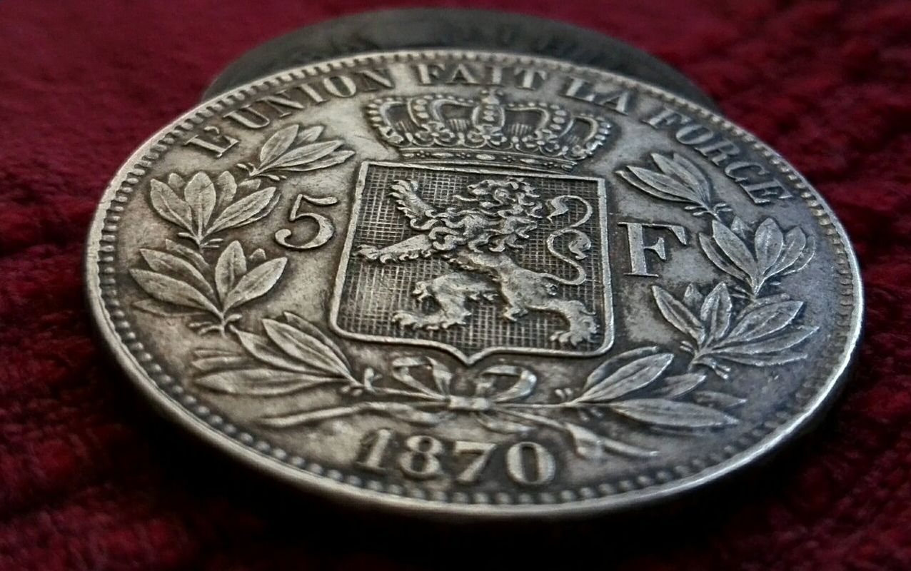 5 francos Belgica 1870 430419019_42025