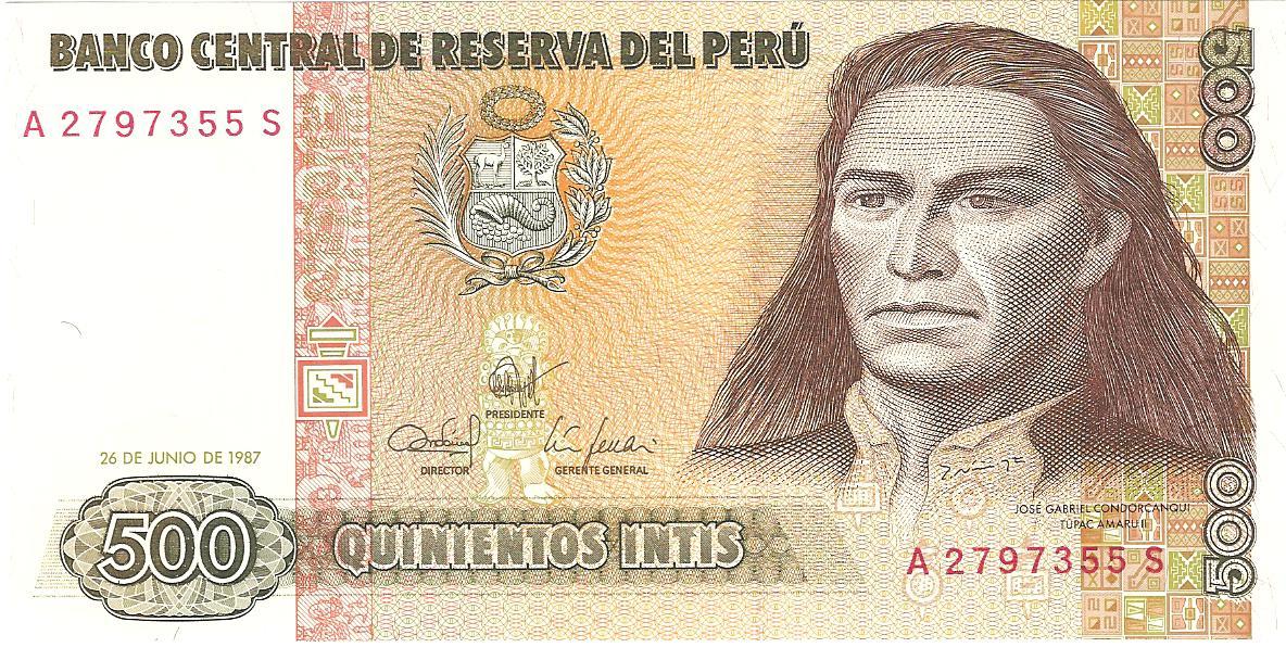 500 intis de Perú año 1987 Image