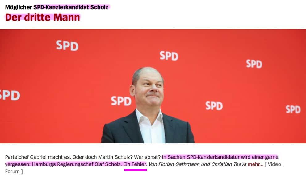 Umfrage / Vorerklärung: Wer wird SPD-Kanzlerkandidat? Scholz_drei