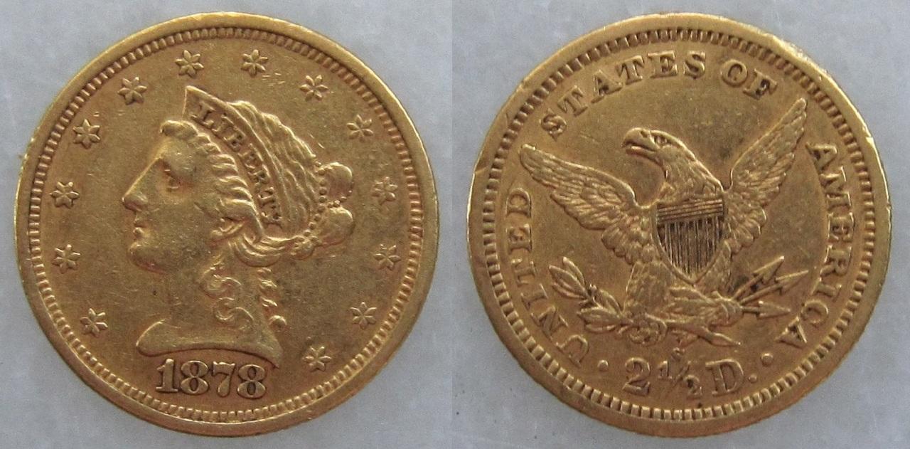 2 1/2 dólares. EEUU 1878 2_d_lares._EEUU_1878_S.F