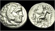 Dracma de Lisímacos como Alejandro III el grande  Lysimacos_copia