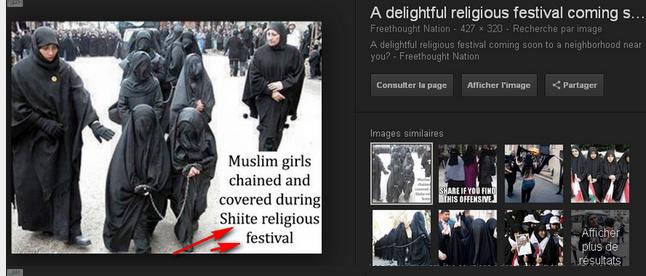 La Guerre des Images contre Islam Image