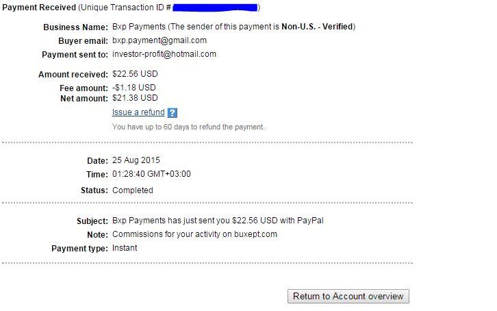 [PROVADO] Buxept - NOVO PTC GANHE Ganhe $0.01 clique  First_Cashout