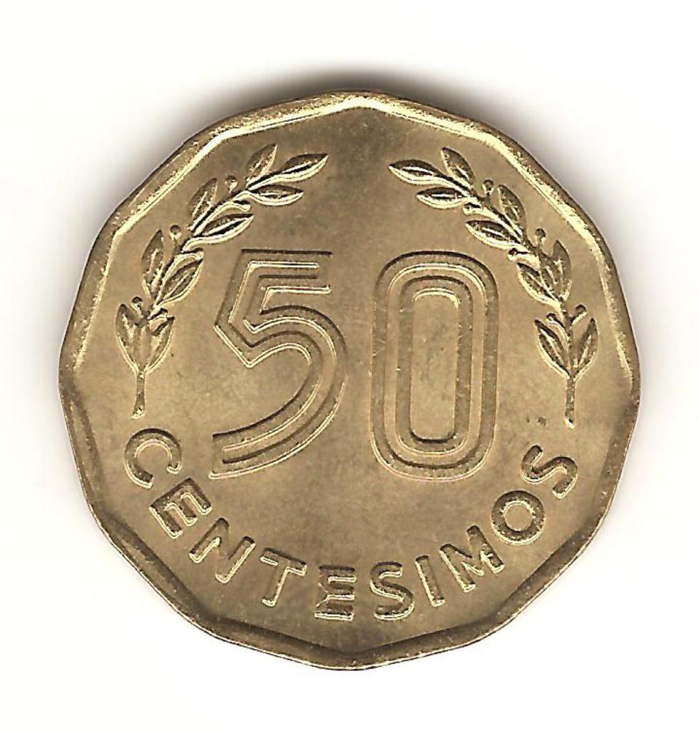 50 céntimos de Uruguay año 1981 Image