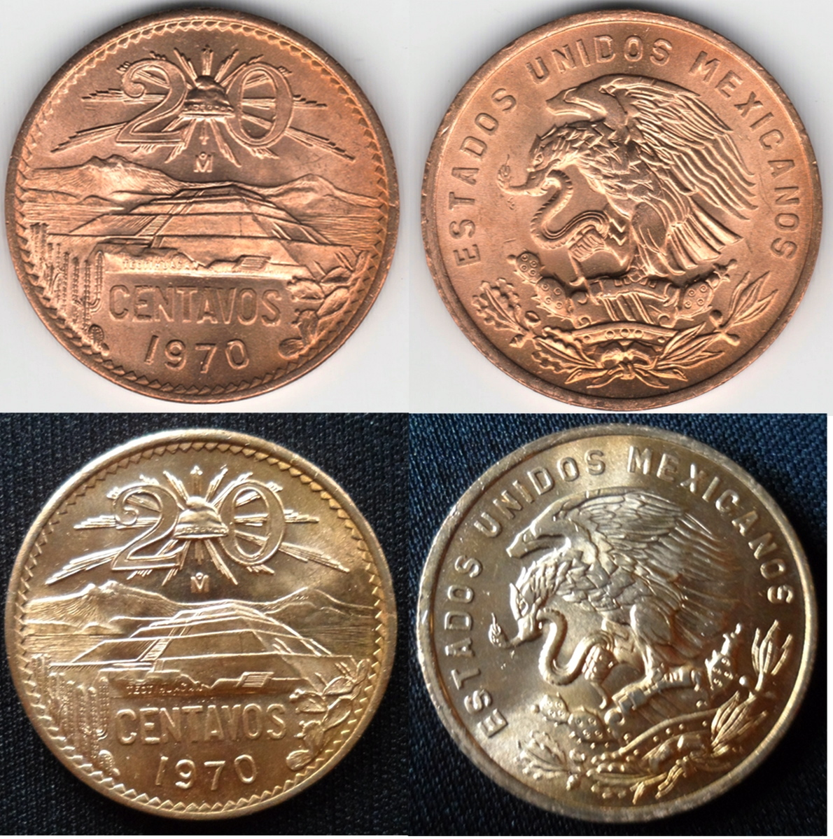 20 centavos 1970-México 20_pesos_Mexico_1870