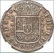 8 Reales 1735 Felipe V -Sevilla Image