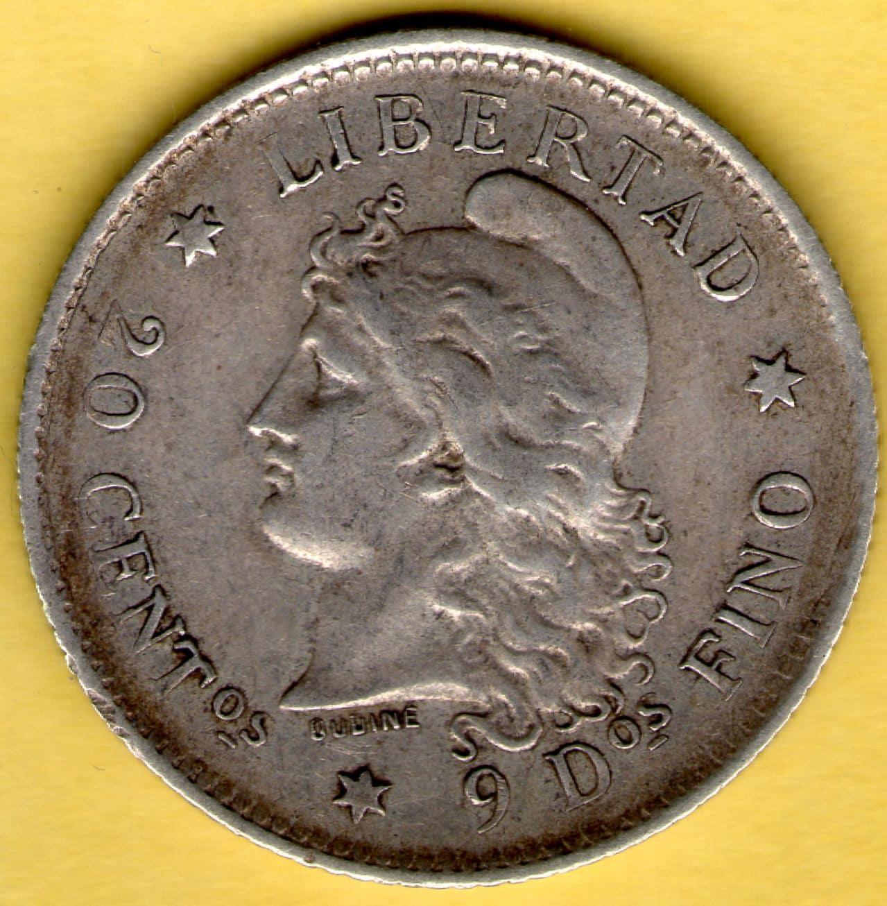 20 centavos de Patacón. Argentina. 1883. 20_Centavos_de_Patacon_anv