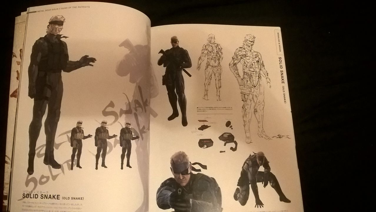 Metal Gear  Solid 4 Figura Old Snake y Libro Master Art Works WP_20151203_20_26_19_Pro