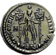 Glosario de monedas romanas. CRISTOGRAMA - CHI-RHO. Image
