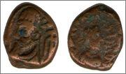Dracma de bronce de Orodes III de Elymais Smg_264