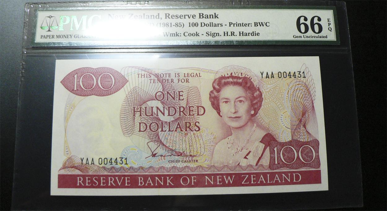 100 Dólares Nueva Zelanda, 1981 Nz175a
