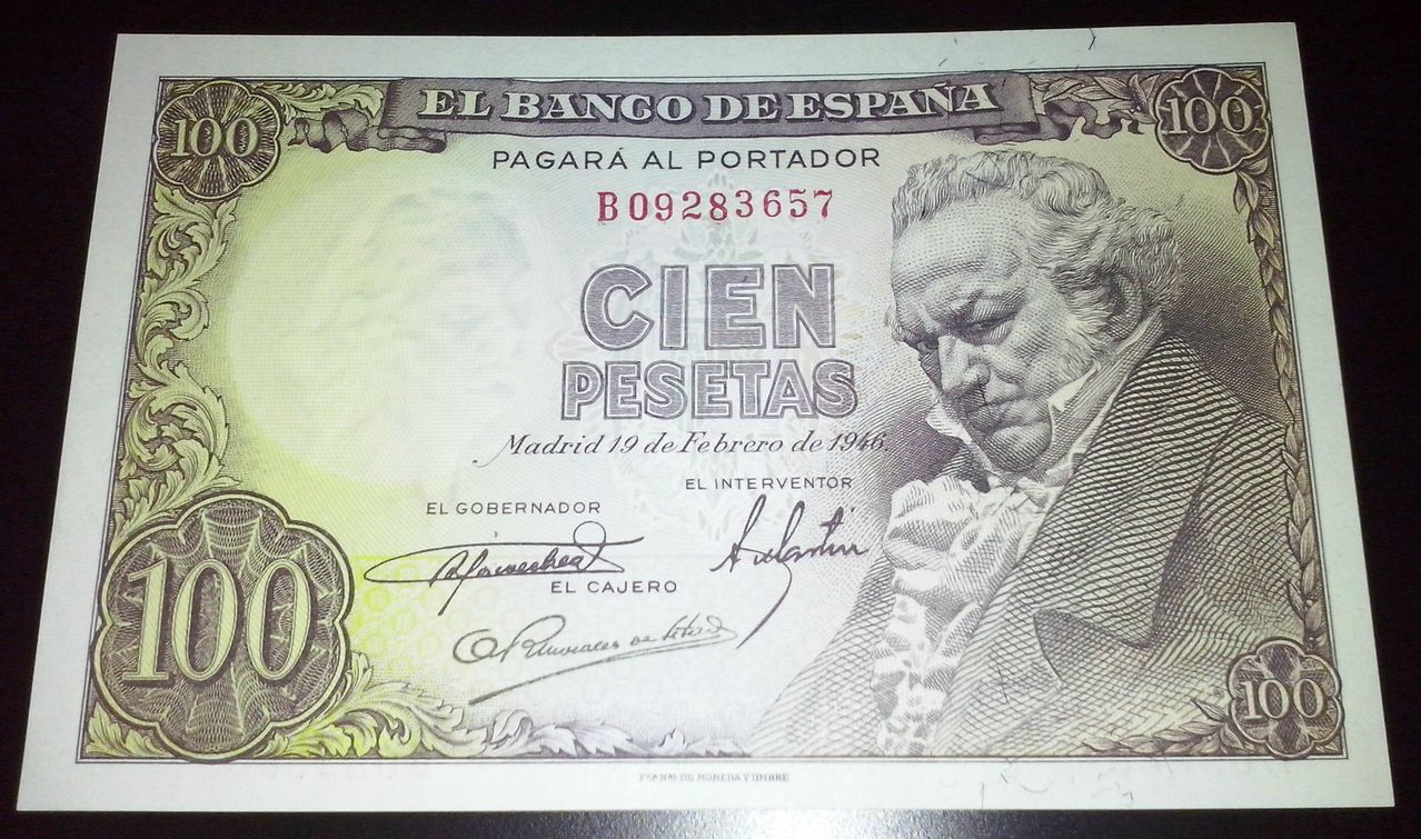 100 Pesetas 1946 (Serie B - Francisco de Goya) 100_PESETAS_1946_ANVERSO