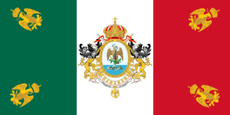2 Pesos. México. 1945  800px_Bandera_del_II_Imperio_Mexicano