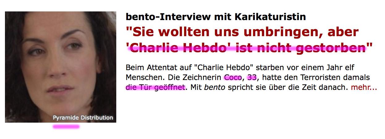 """Überfall auf französisches Satiremagazin """"Charlie Hebdo"""" 7.1.2015 Coco"""