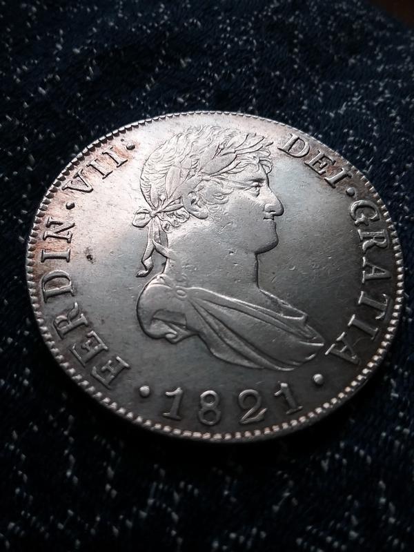 8 reales 1821 Fernando VII. Guatemala. NG 20180101_144325