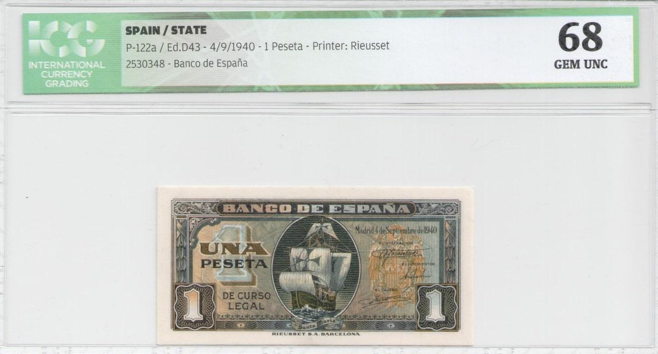 Colección de billetes españoles, sin serie o serie A de Sefcor 40_anverso
