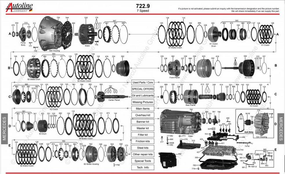 Imagens Explodidas câmbios Mercedes 722.X 722_9