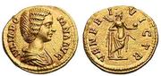 Aureo de Julia Domna. VENERI VICTR. Venus estante a dcha. Ceca Roma. Au6_bis
