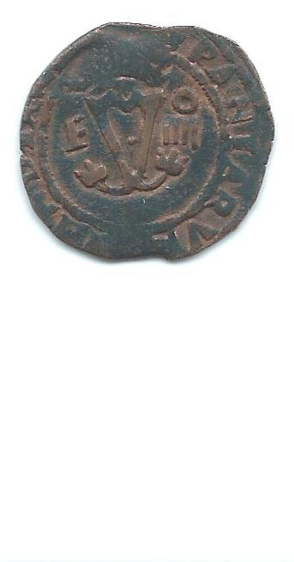 4 maravedis de Juana y Carlos año 1542-1564, ceca Santo Domingo Image