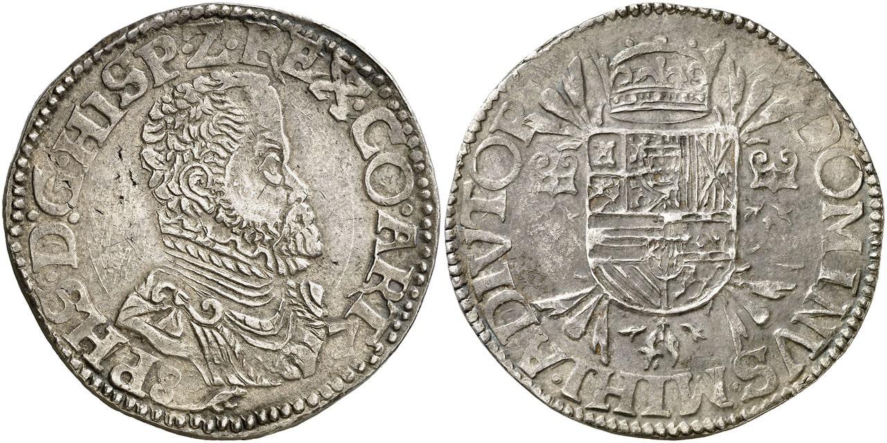 Escudo de Felipe II. (15)87. Artois. 0533