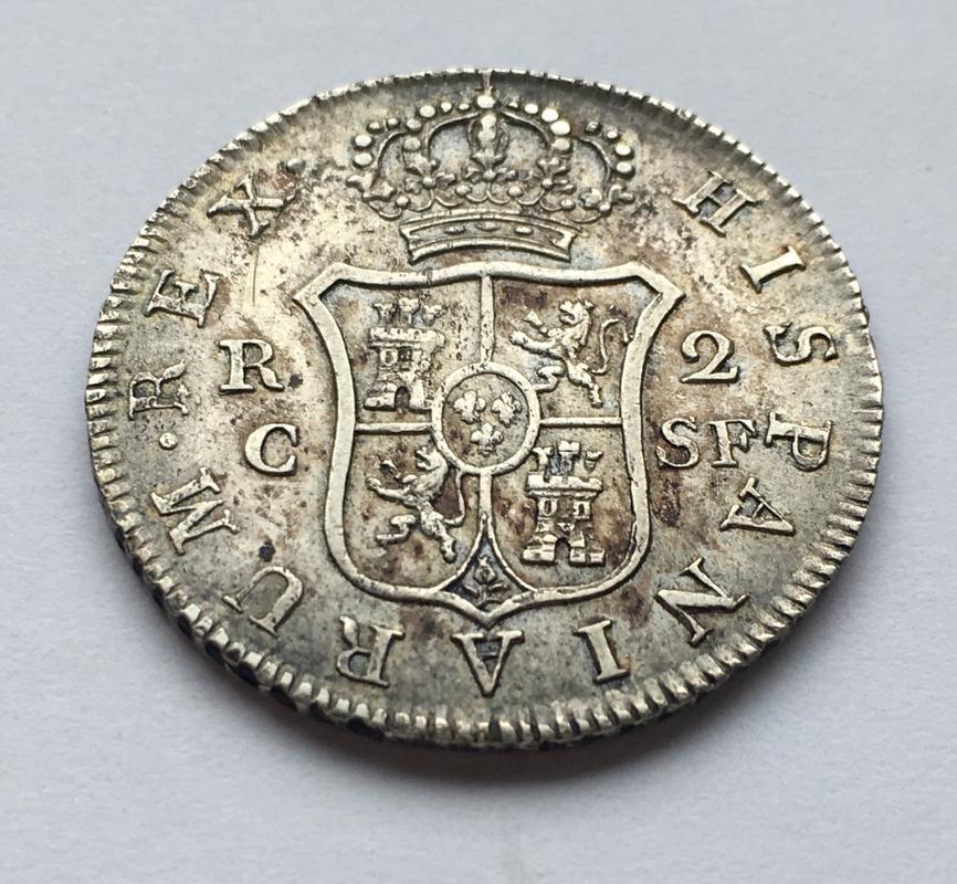 2 reales 1814. Fernando VII. Catalunya SF 8_BC91_FFB-60_D5-447_F-_AED1-67_DF232_DCE2_C