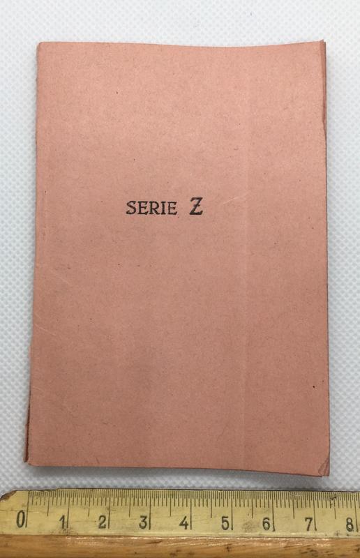 Talonario de 50 vales para viajes por ferrocarril. Ministerio de Marina, Serie Z 1936. 7_F734951-7645-4872-8963-_DA02_D13_F7819