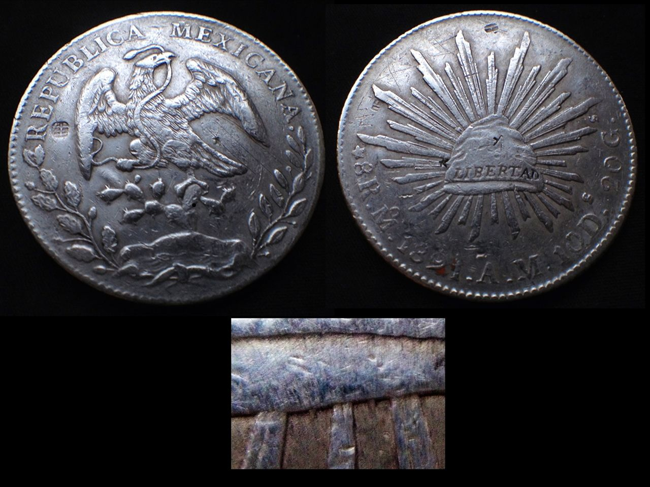 8 reales 1891 México- Resellos 8_reales_1891_M_xico_resellos