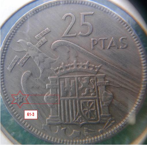 Geometría de las estrellas de las monedas de 25 pesetas 1957* 61_3_E