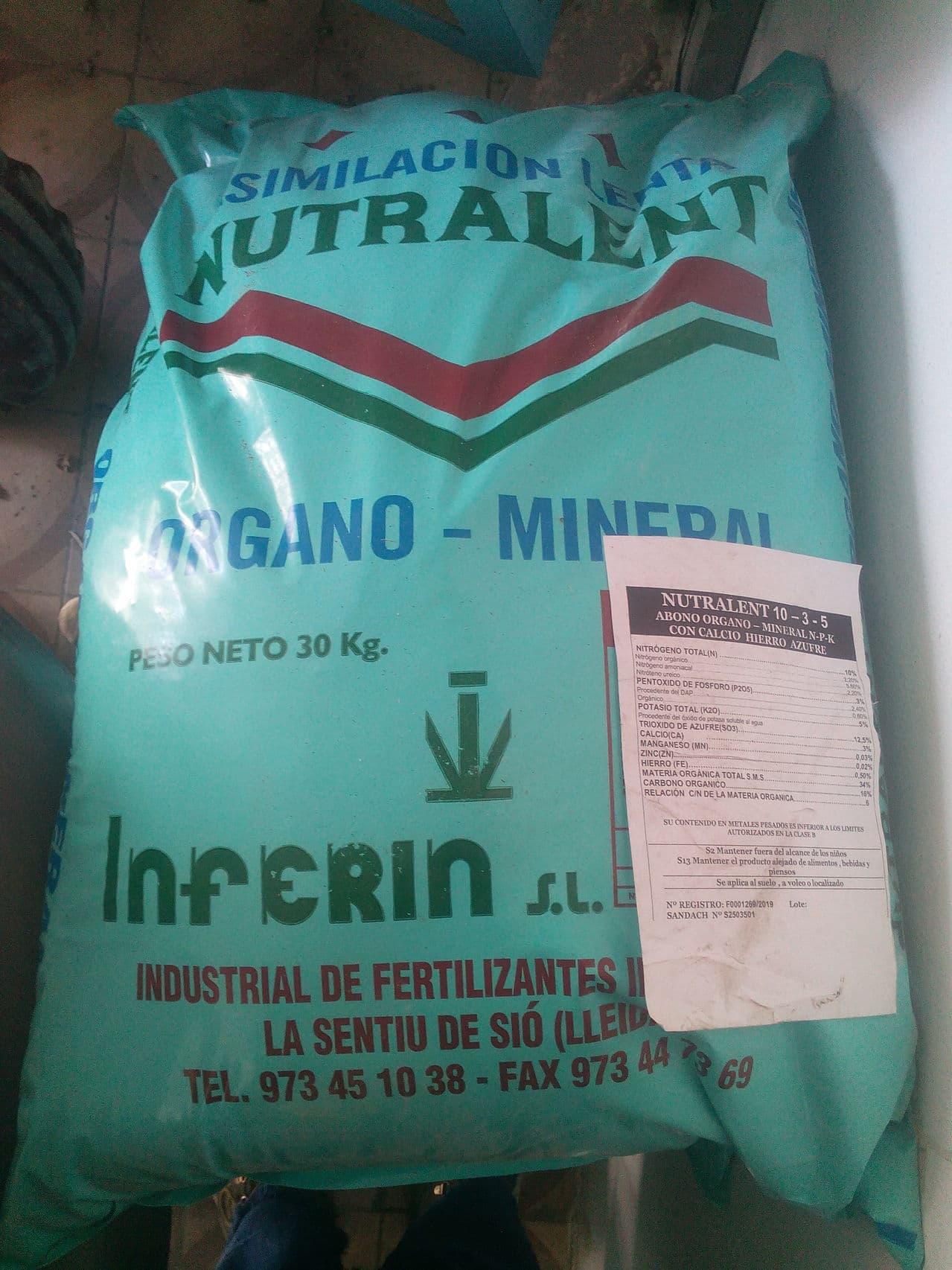 Abono para el olivar Nutralent