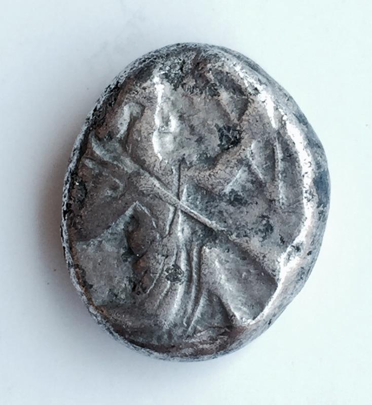 Aqueménidas. Siclo acuñado en Sardes, Lydia, bajo dominación persa, ca. 485-420. IMG_0549