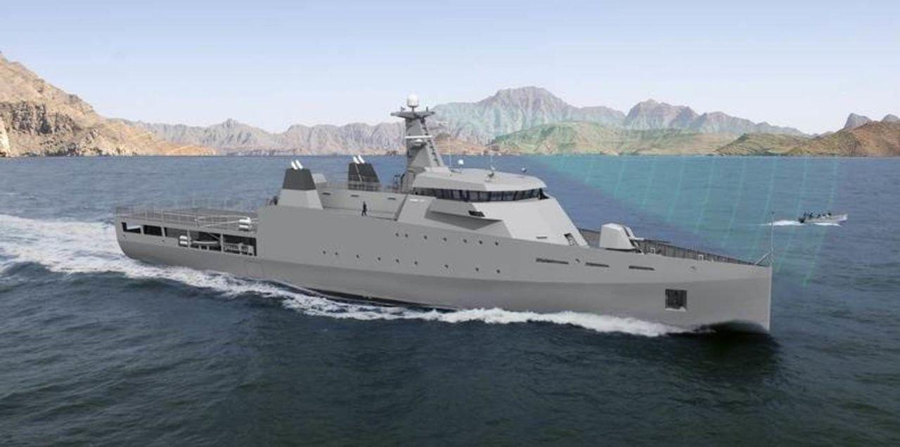 Diseño Damen de 2 generacion para Patrullas Oceanicas y/o Corbetas - Multimodal Patrol_Vessel_DAMEN3