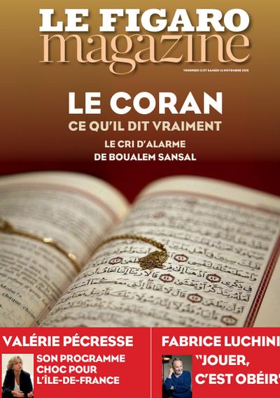 sur le Coran Figaro_coran_14_nove2015_critique