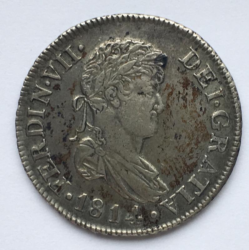 2 reales 1814. Fernando VII. Catalunya SF CFB43_A58-41_C0-4_BC9-86_E6-_FCAED96_DAF61