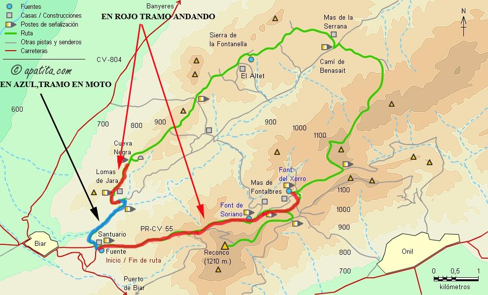 EL RECONCO,Biar + COVA NEGRA (ruta motosenderista) Biar50