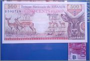 Rwanda 500 francs 1978 (UNC) Image