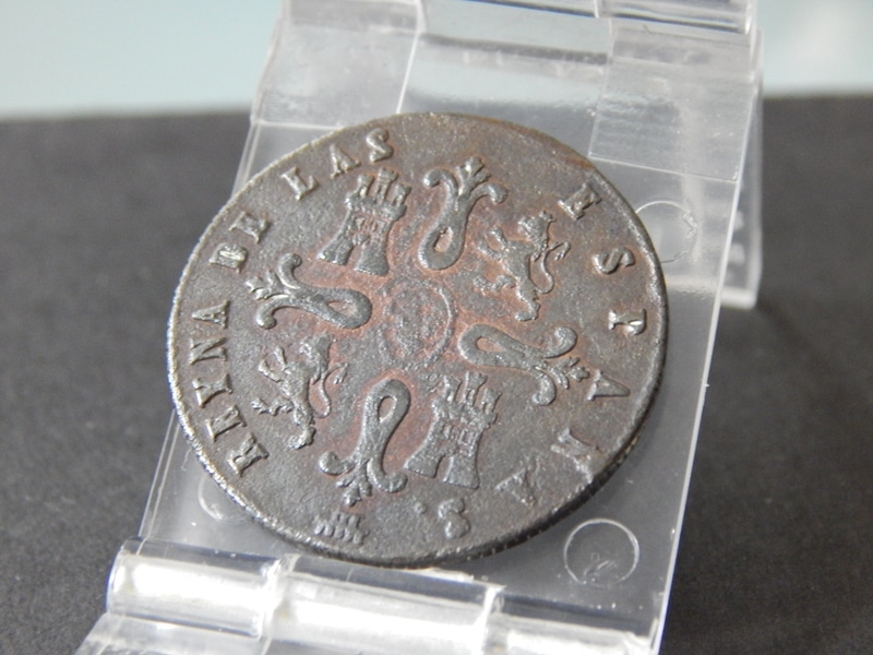 8 maravedís 1842. Isabel II. Segovia  DSCN2427