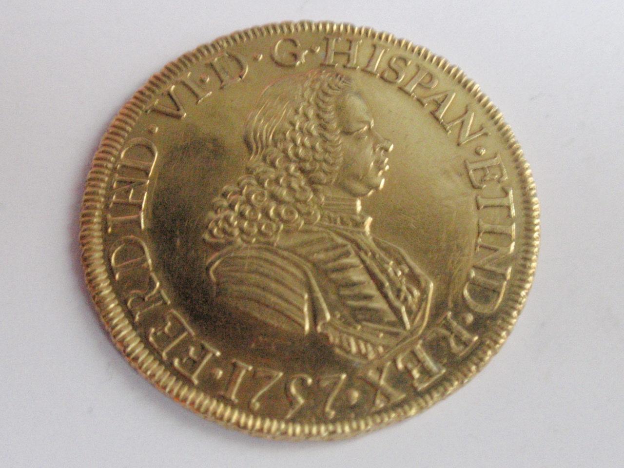 8 escudos 1757. Fernando VI. Méjico. (Eddy et JO3023 pro magnificentia et gloria publica dedit). FERVII_002
