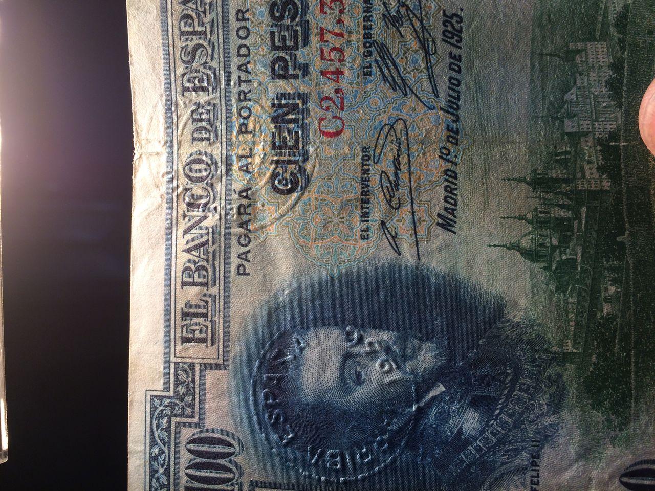 100 Pesetas 1925 (Tres sellos secos:Arriba España, Burgos y República) IMG_1760
