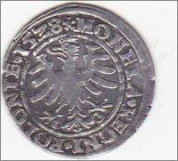1 Groschen. Polonia. 1538 Image