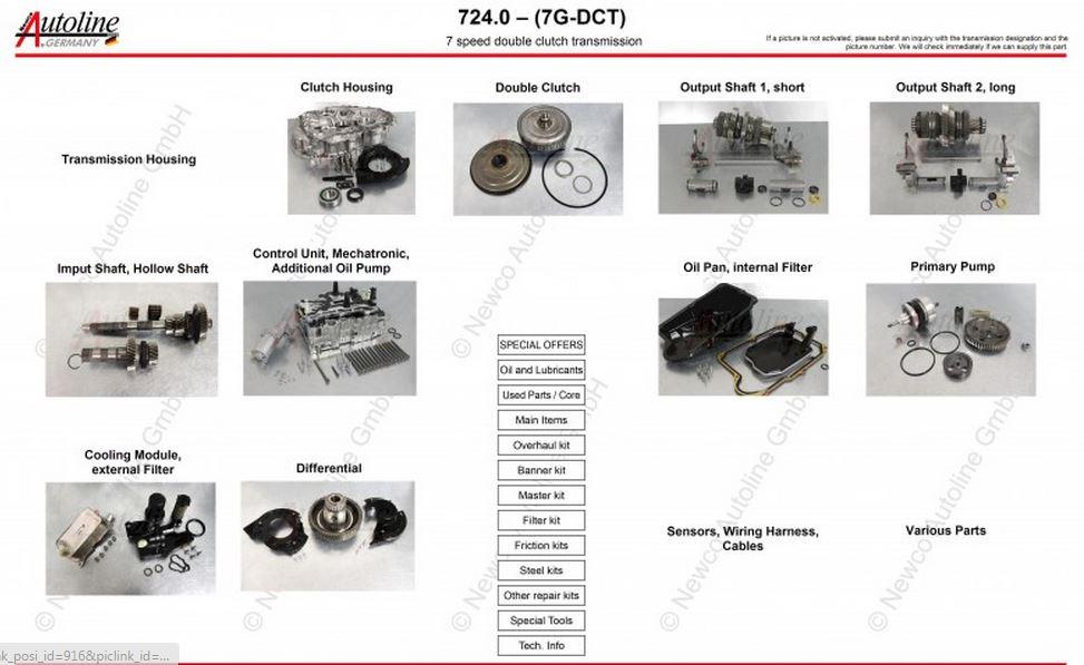 Imagens Explodidas câmbios Mercedes 722.X 724_0_7_G_DCT
