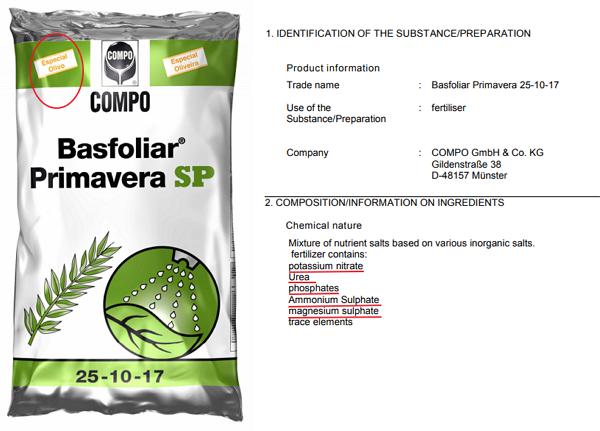 Abonos complejos foliares o mezcla de abonos simples Basfoliar