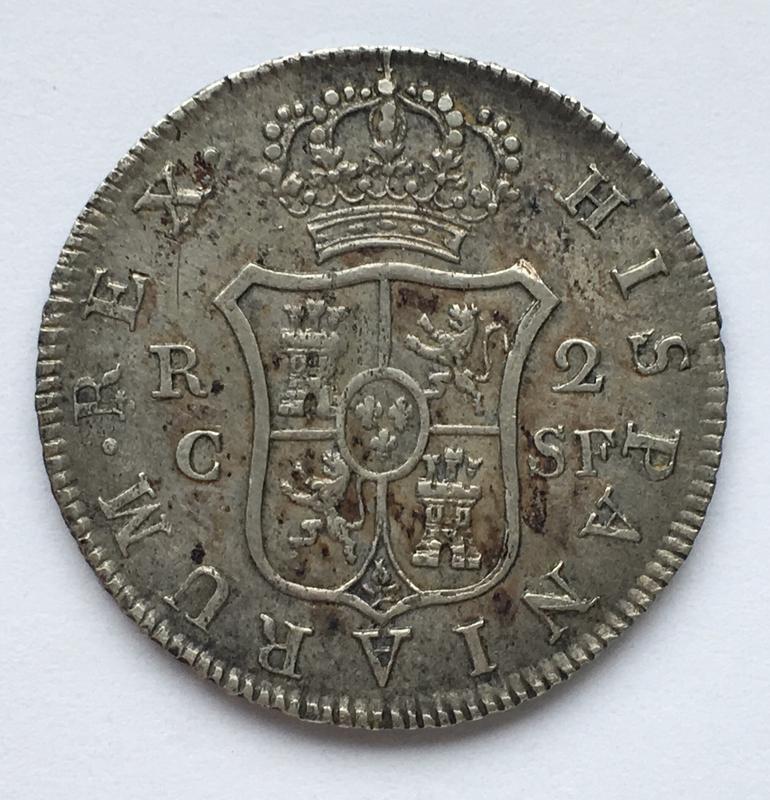 2 reales 1814. Fernando VII. Catalunya SF 1913_A330-5737-4_E50-9_CA6-6_E44_B8_CD3924