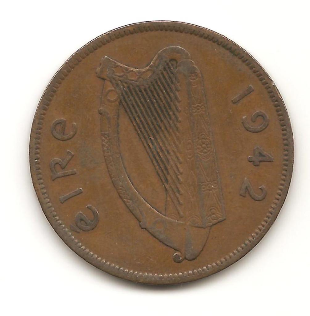 1 penny de Aire año 1942 Image