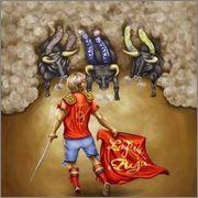 8 Reales 1633R - Felipe IV - Real Ingenio de Segovia - Dedicada a DAVID Image