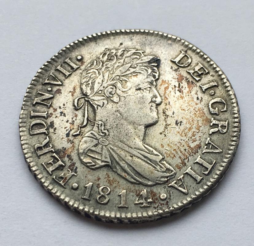 2 reales 1814. Fernando VII. Catalunya SF E60_A37_F4-1942-4008-_B5_C8-73_F3886_DB847