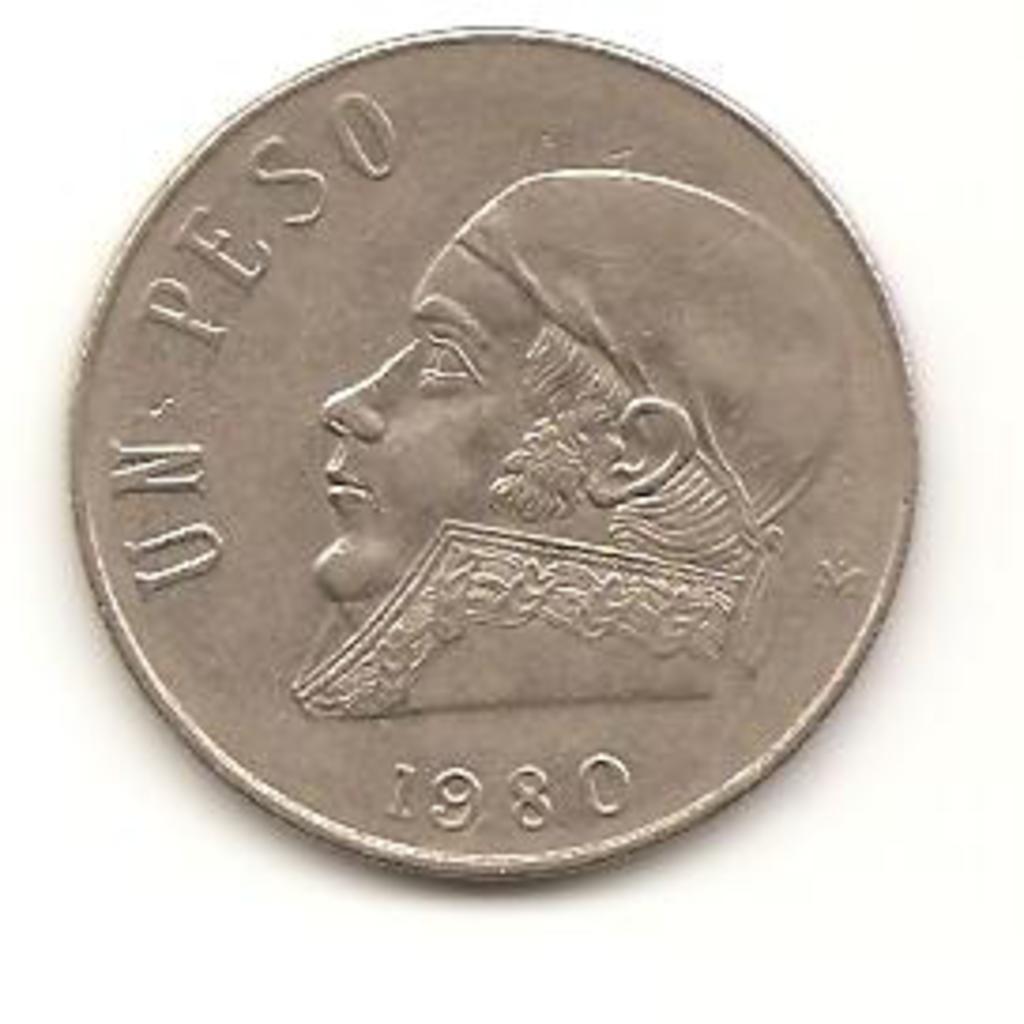 1 peso de 1980 México Image